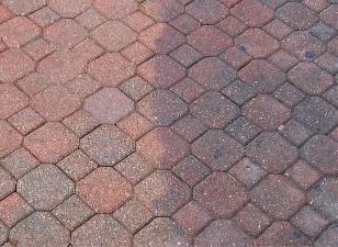 очистка тротуарной плитки мягким бластингом